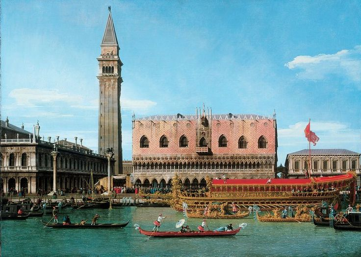 Giovanni Antonio Canal, called Canaletto (1697–1768) The Bucintoro at the Molo on Ascension Day About 1745 Oil on canvas 114.9 x 162.6 cm Philadelphia Museum of Art, The William L. Elkins Collection, 1924