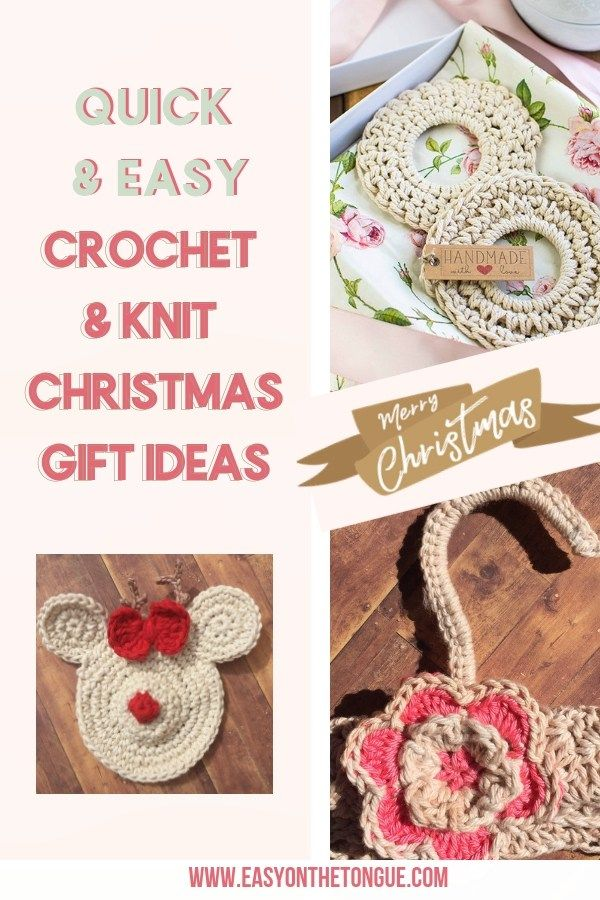 Crochet & Knitting Christmas Gift Ideas. Start with your gifts now and  avoid the last minute rush to get things done. #christmasgifts  #crochetgiftideas # ... - Crochet & Knitting Christmas Gift Ideas Knitting And Crocheting