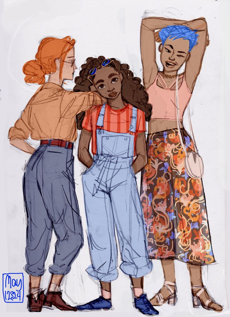 Ginny, Hermione and Tonks I've never imagined Hermione as black but this is still pretty cool