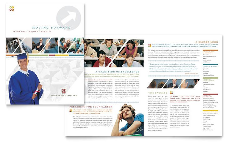 College \ University Brochure Template - Word \ Publisher - brochure template on word