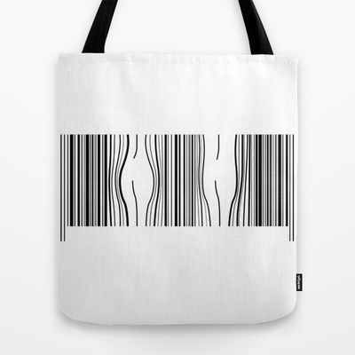 HELLO, What is your gender? Gender Barcode Tote Bag by ALgaGIgu - $22.00