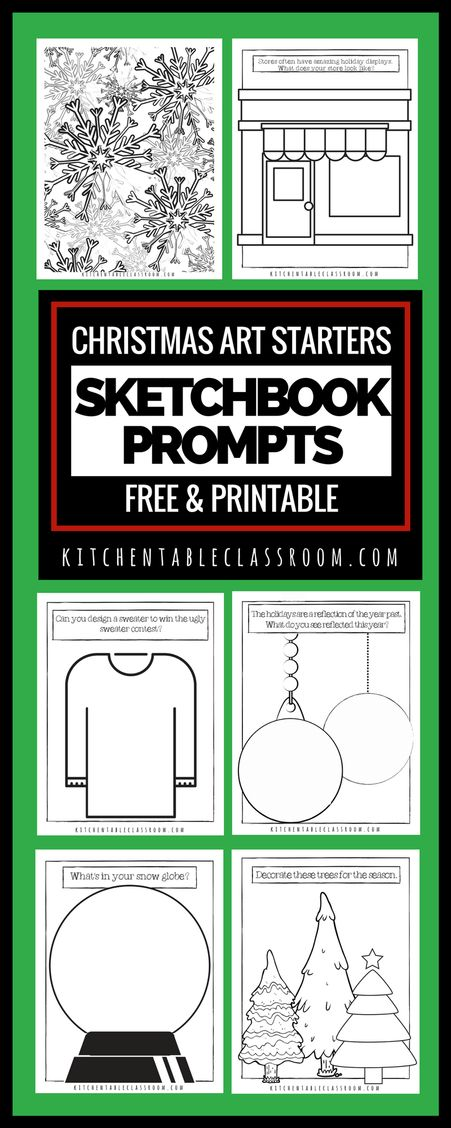 All you need are a copy of these free  printable Christmas art starters and something to make marks!  So grab your Sharpie or your crayons and let's go!