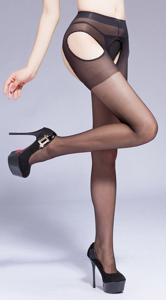 Sheer Four Sides Open Pantyhose - xome - 1
