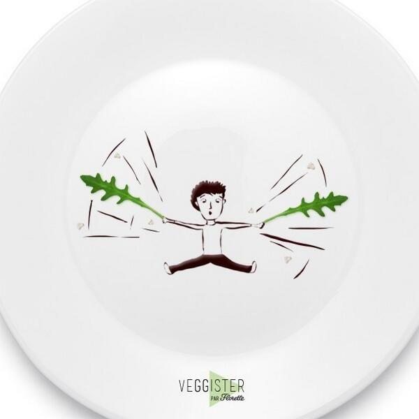 « Ail believe ail can flyyy » #Veggister #FoodArt