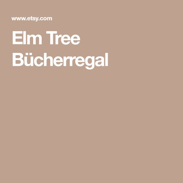 Elm Tree Bücherregal