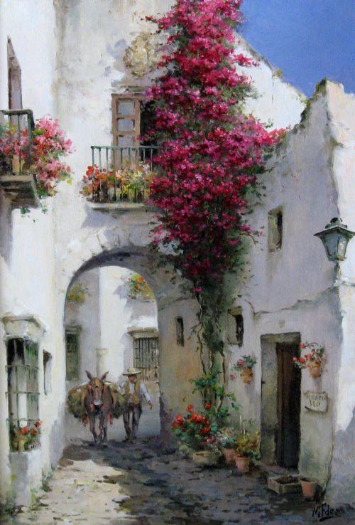 Художник Manuel Fernandez. Прекрасная солнечная Испания. Картины