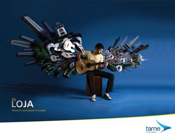 Ecuador Airline advertising