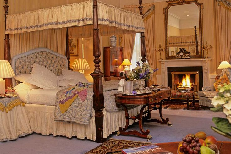 The Stopford Room, one of the State Rooms at Marlfield house Luxury Hotel in Ireland