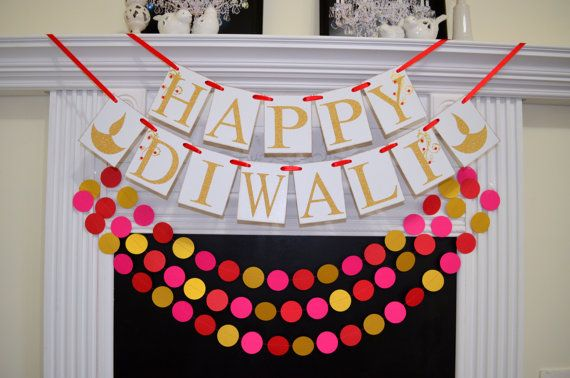 Happy Diwali Banner, Diwali Sign, Diwali Banner, Diwali Decoration, Indian Festival of Lights, Hindu Festival, Laxmi Puja, Diwali Sign