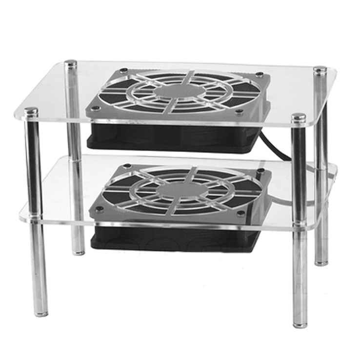 DIY wireless Routers switches hubs, modems double-deck radiator cooler Base external cooling rack USB 5V12cm silent Double fans