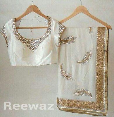 Indian Saree Designer Cocktail Wear Party Wear Indian Ethnic Sari Draped Dress