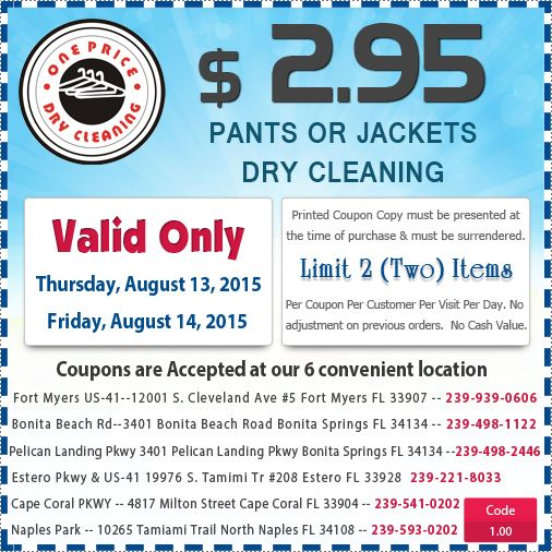 photo about Cd One Price Cleaners Coupons Printable referred to as A single rate dry cleaners discount codes / Grand theater greensboro nc