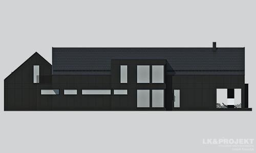 Projekty domów LK Projekt LK&1324 elewacja 3