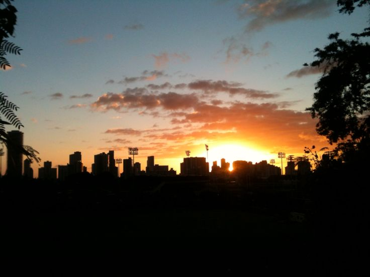 Sunset over the city.  Taken from the UH campus
