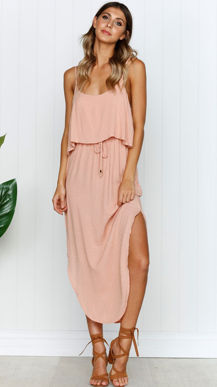 Miracle Fashion - Lindsey Dress - Peach