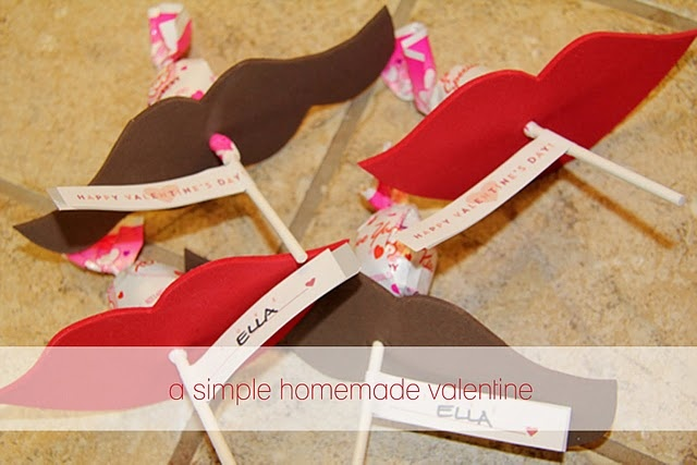 Valentine treat idea for the kids to hand out. Lips and mustaches. Love this!