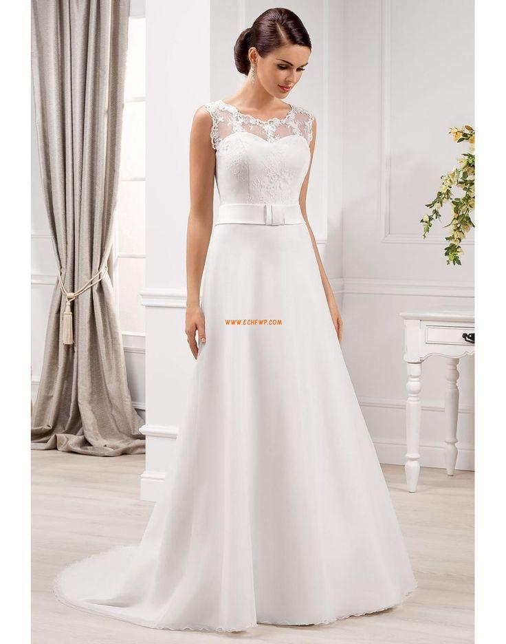 Áčkový střih Organza Šerpy / Stuhy Svatební šaty 2014