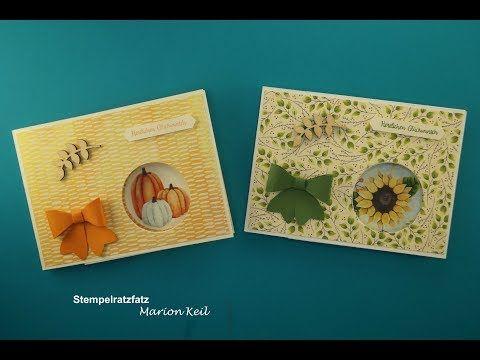 """Stempelratzfatz - Kreativ mit Stampin´ Up!®: Karte """"Peek-a-boo-Karte"""" Herbstimpressionen mit Stampin´ Up!"""