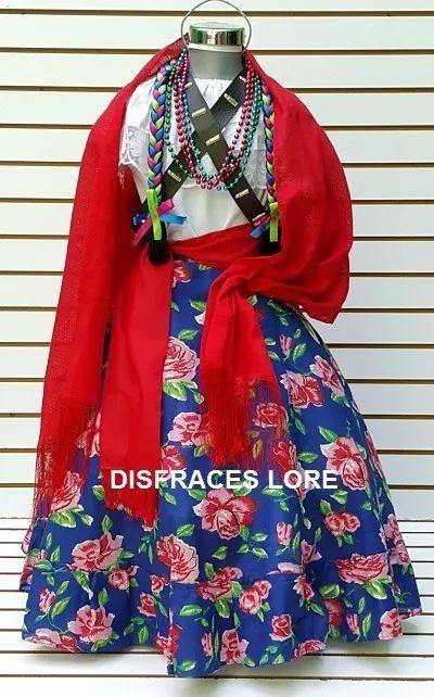 falda disfraz adelita revolucionaria blusa olanes rebozo