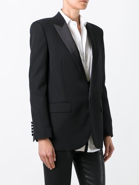 Love this by SAINT LAURENT Long Single Breasted Tube Jacket In Black Virgin Wool Gabardine - $1603 (30%Off)