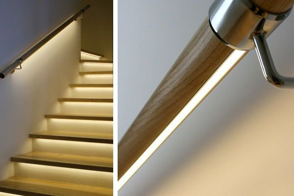 Gorgeous Ideas For Safer Stairs Handrail Lighting Wood Handrail   Lighted Handrails For Stairs   Wrought Iron Railing   Minimal   Antique   Basement   Stair Banister