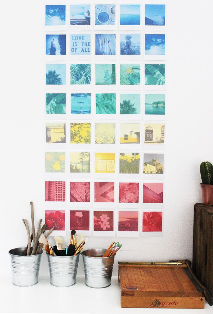 Diy Instagram Polaroid Wall Art Free Printable Poppies