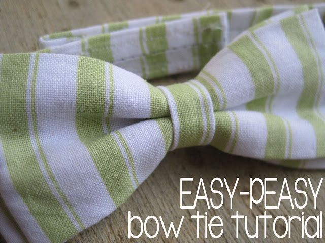 baby/toddler bow tie tutorial