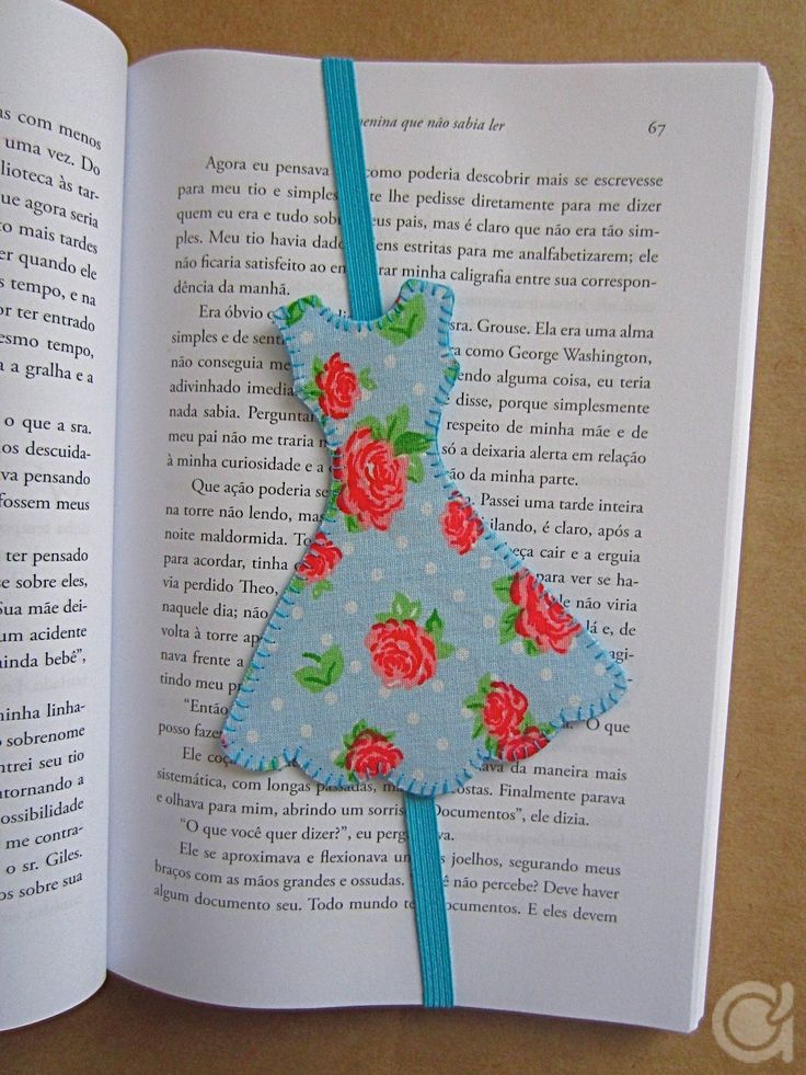 DIY spring dress bookmark with tutorialwith things
