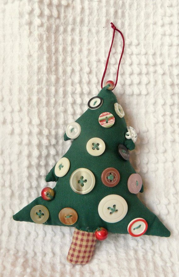 Vintage Handmade Softie Christmas Tree Ornament With