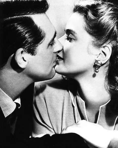 Cary Grant & Ingrid Bergmann [There's a lot of female Pinners who'd readily swap places with Ingrid Bergmann .... difficult job, acting :) ]