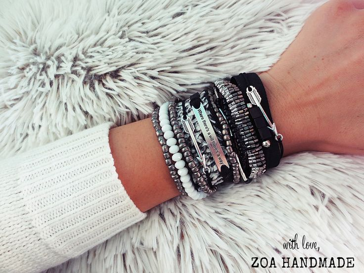black and silver Zoa handmade from winter collection 2014