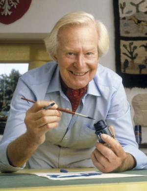 Tony Hart. He always inspired me, as when I saw him on TV it always made me want to go and draw something.