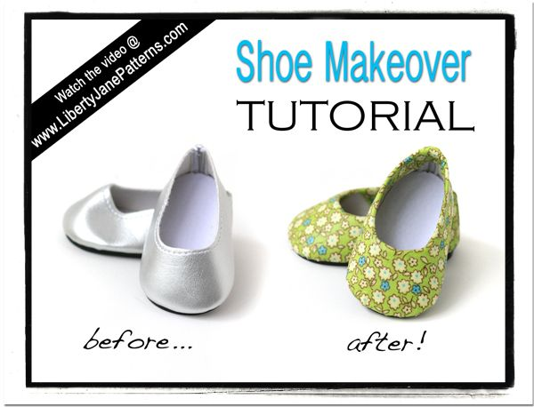 DIY Video Tutorial - Give your doll shoes a makeover using fabric and mod podge! Fun and easy!