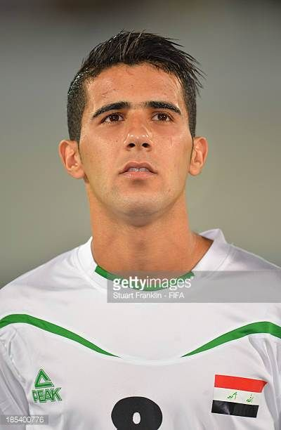 Bashar Resan of Iraq looks on during the FIFA U17 World Cup group F match between Iraq and Sweden at Khalifa Bin Zayed Stadium on October 19 2013 in...