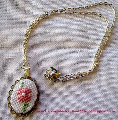 cross stitching necklace | Happiness+is+cross+stitching++cross+stitch+necklace.JPG