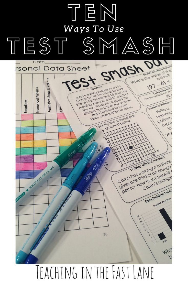 Ten ways to use Test Smash {Make Your Test Prep Rock} The 2nd and 5th ones are my favorite!