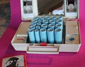 Vintage Brother Mademoiselle Combo Electric curlers and illuminated make-up mirror