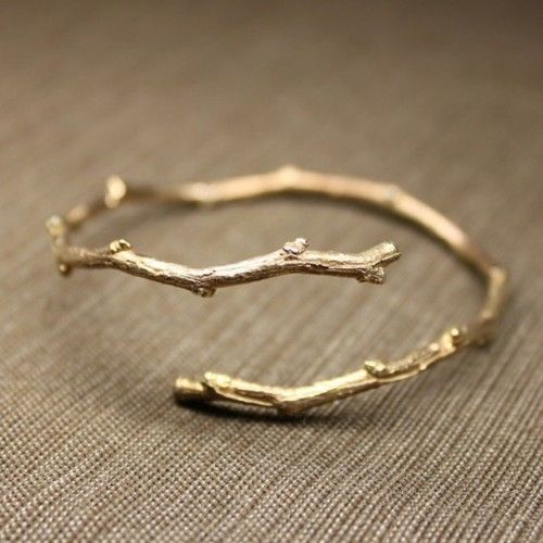 j'adore! Overcast autumn days call for a little extra sparkle ~ twiggy open bangle in rose gold.
