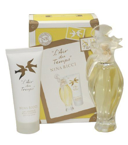 L'air Du Temps Gift Set L'air Du Temps By Nina Ricci by Nina Ricci. $56.99. Recommended Use: evening. Fragrance Notes: a rich floral of gardenia and jasmine, with tones of sandalwood and iris, a romantic aroma.. Design House: Nina Ricci. EDT SPRAY 3.3 OZ & BODY LOTION 3.3 OZ (TRAVEL SET) Design House: Nina Ricci Year Introduced: 1948 Fragrance Notes: A Rich Floral Of Gardenia And Jasmine With Tones Of Sandalwood And Iris A Romantic Aroma. Recommended Use: Evening