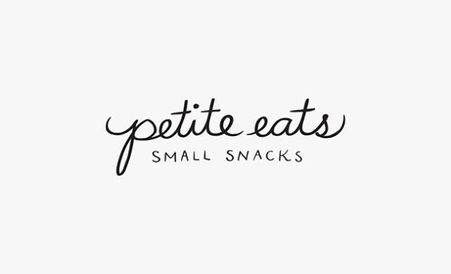 Hand done type for logo. Petite eats