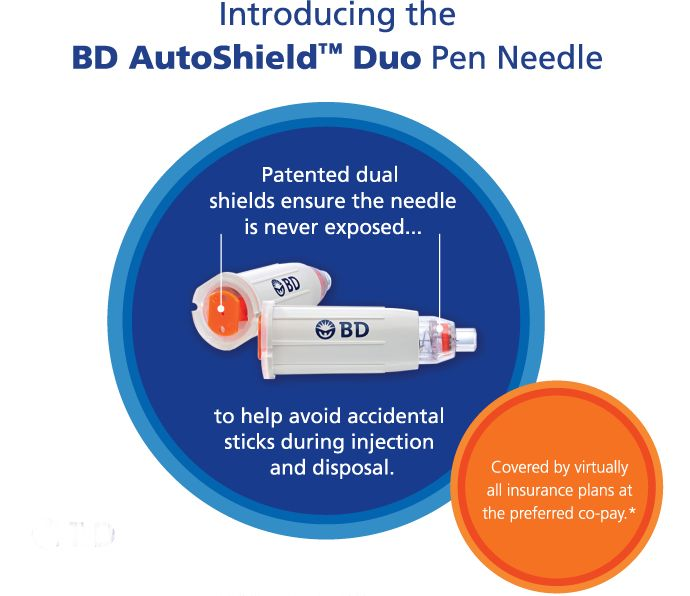 BD AutoShield Duo Safety Pen Needle- aligns with the OSHA Bloodborne Pathogen Standard.