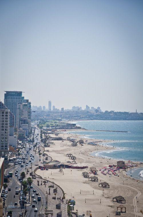 Tel Aviv beaches. Dvora loves the beach and spent hours of her down time lying in the sun perfecting her tan. http://exploretraveler.com http://exploretraveler.net