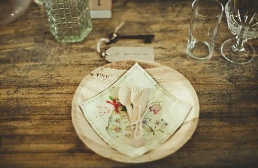 Wedding Venue Ideas | Rustic alternatives to wedding crockery that are eco-friendly and ...