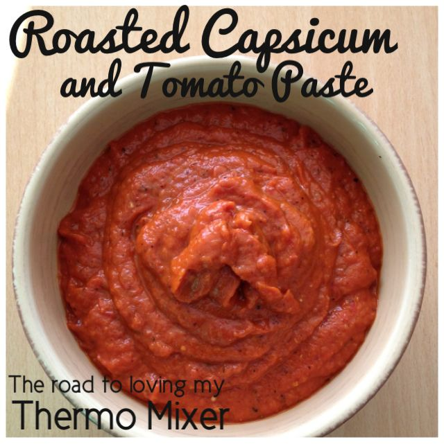 I cant believe I haven't posted this Roasted Capsicum and Tomato Paste recipe yet as it is one of my most