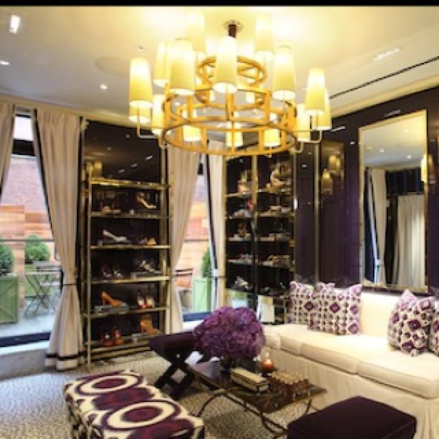 Tory Burch's shoe closet--deep plums and gold. By Daniel Romualdez.   From http://www.google.com/search?q=daniel+romualdez=en=safari=d=lnms=isch=C5qMT8_GEqr40gGw6dXWCQ=X=mode_link=mode=2=0CGAQ_AUoAQ=768=916