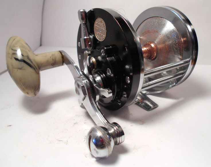 Vintage ocean city bay city conventional saltwater fishing for Surf fishing rod and reel