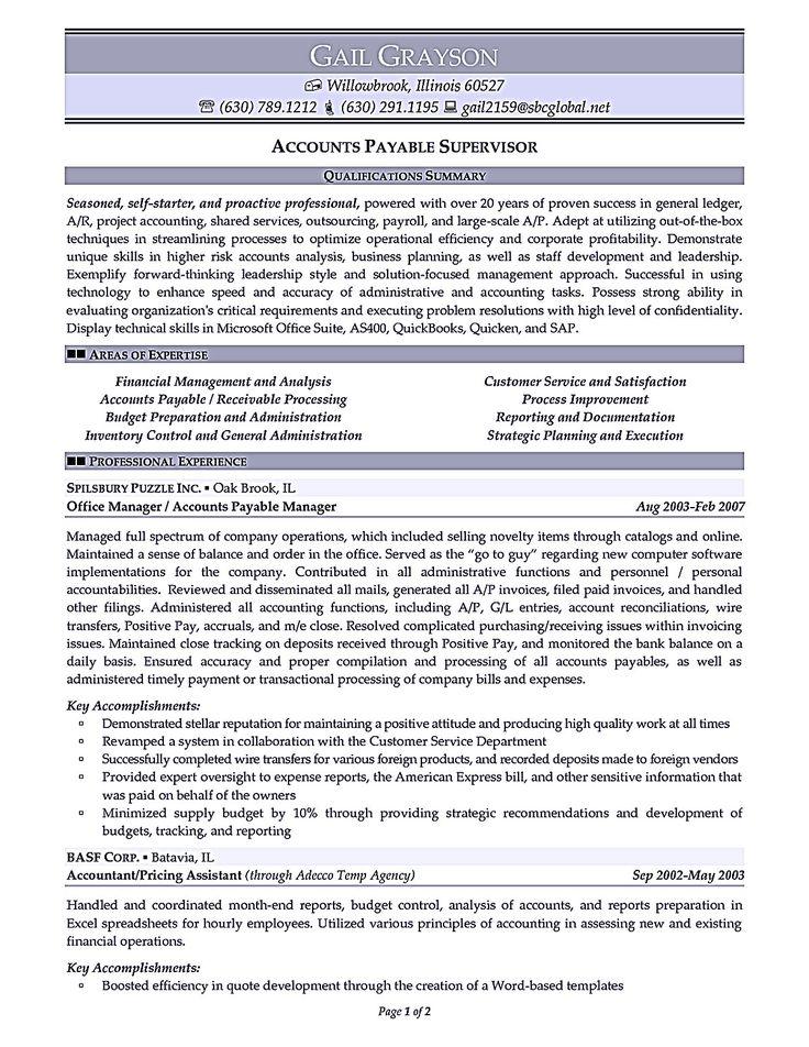 accounts payable resume samples 8 best best accounts receivable
