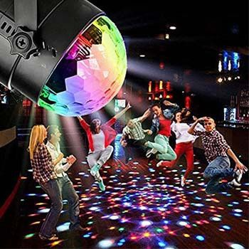 Sound Activated Mini Crystal Magic Ball - For Your DJ Disco Nightclub