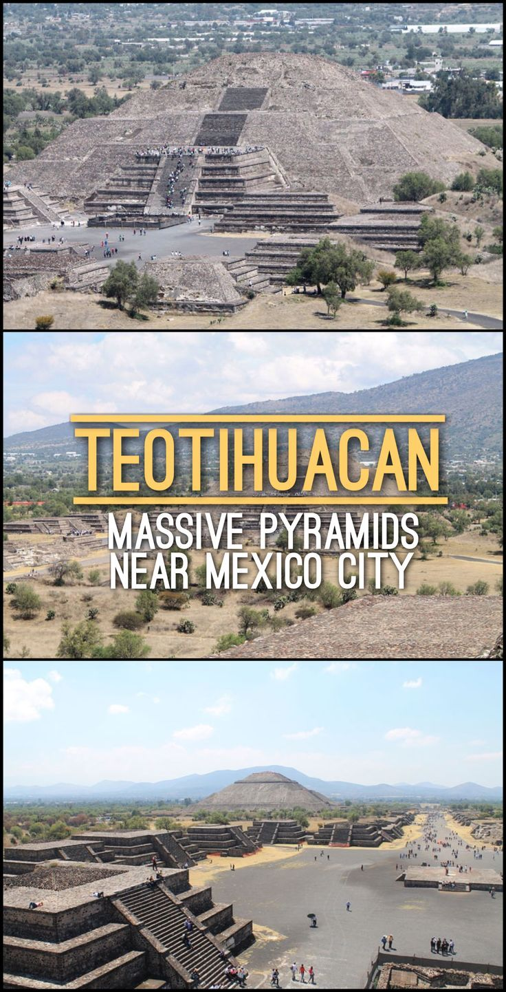 A half day trip to the Teotihuacan archaeological site -- these massive pyramids near Mexico City are really impressive!
