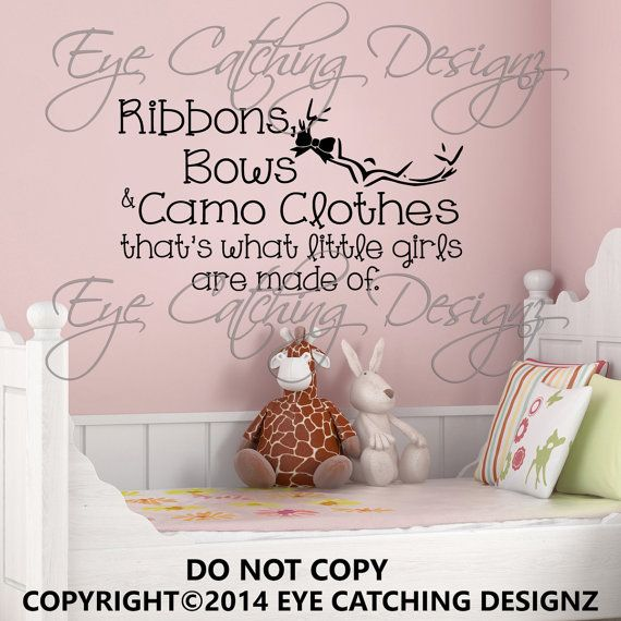Ribbons Bows Camo Clothes Camouflage Little by EyeCatchingDesignz